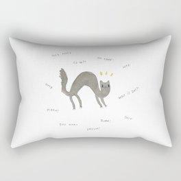 Scaredy Cat Rectangular Pillow