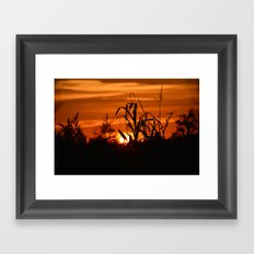 Silhouttes in a Sunrise Framed Art Print