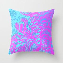 Amorph dark neon  Throw Pillow