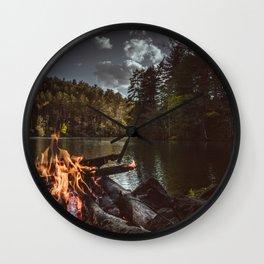 Shoreline Campfire Wall Clock