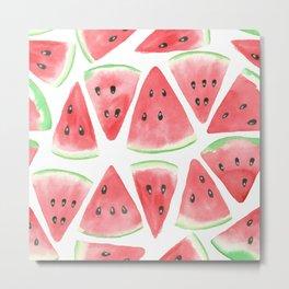 Watermelon slices pattern Metal Print