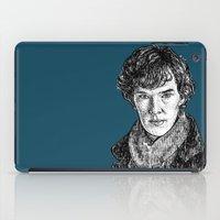 benedict cumberbatch iPad Cases featuring Sherlock, Benedict Cumberbatch by Sharin Yofitasari