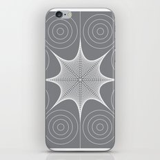 White Stretched Star with Circles iPhone & iPod Skin