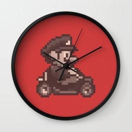 Pixelated Super Mario Kart - Mario Wall Clock