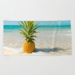Pineapple Beach Beach Towel