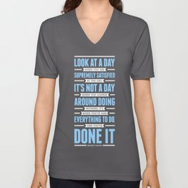 Lab No. 4 Look At A Day When Margaret Thatcher Inspirational Quote Unisex V-Neck