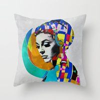 pop art Throw Pillows featuring Pop by Steve W Schwartz Art