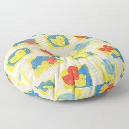 Rubber Duck Monoprint Floor Pillow