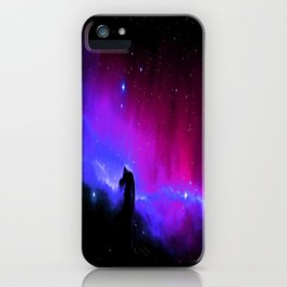 nEbulA : Horsehead Nebula Fuchsia Purple Blue iPhone Case