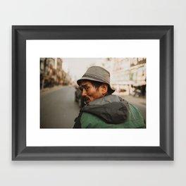 Nepali man, Kathmandu Framed Art Print