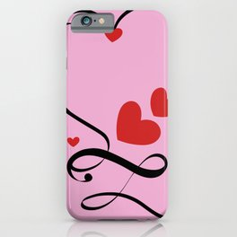 love heart with infinite iPhone Case