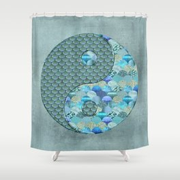 Yin Yang Ocean Spirit Shower Curtain