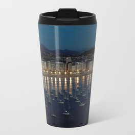 Night view of Donostia-San Sebastian. Spain. Travel Mug