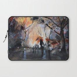 Watercolor painting - Autumn rain - Laptop Sleeve