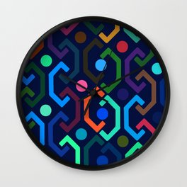 Ethnic Pattern (by night) Wall Clock