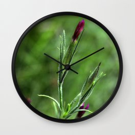 Pink Lipstick Flower Buds Wall Clock