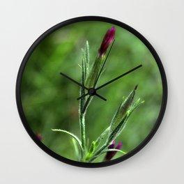 Pink Lipstick Flower Buds Wall Clock