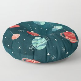 Joy to the Universe (in Teal) Floor Pillow