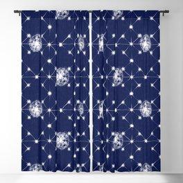 Shibori Stars Pattern | Indigo Blue Blackout Curtain