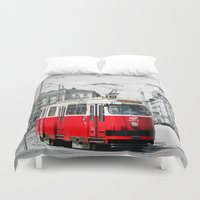 vienna Duvet Covers featuring Vienna by Ira Golenkova