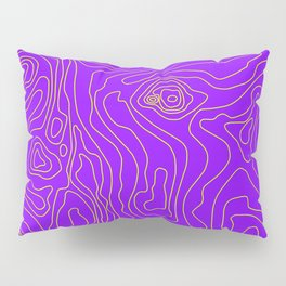 Typographic map Pillow Sham