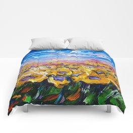 Sunflower Field Comforters