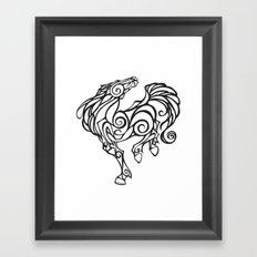 Horse Swirls Framed Art Print