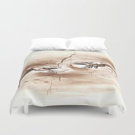 The Creation of Coffee Duvet Cover
