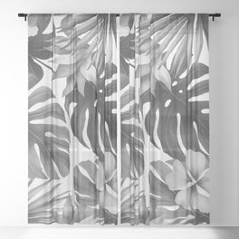 Tropical flowers 8 Sheer Curtain