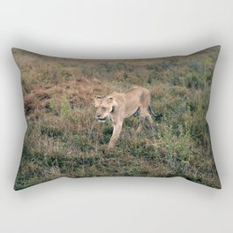Lone Lion. Rectangular Pillow