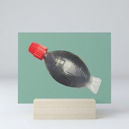Fish bottle sushi soysauce polygon art Mini Art Print