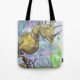 Seahorse Watercolor Tote Bag