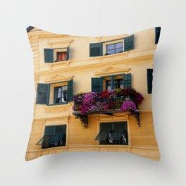 The Yellow Facade Throw Pillow