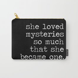She Loved Mysteries (Inverted) Carry-All Pouch