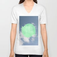 cloud V-neck T-shirts featuring CLOUD by Jackson Todd