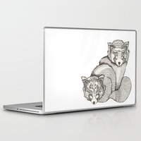 pandas Laptop & iPad Skins featuring red pandas by Polkip