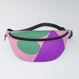Different shapes illustration, geometric abstraction. Fanny Pack