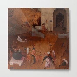 "Hieronymus Bosch ""The Last Judgment"" triptych (Bruges) right panel Metal Print"