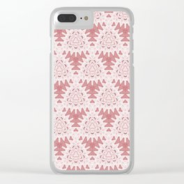 Elegant White Lace Overlay Design Clear iPhone Case