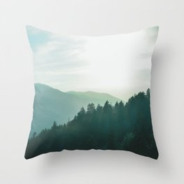 Green Forest, Slow down! Throw Pillow