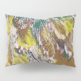 feather texture in yellow and green Pillow Sham