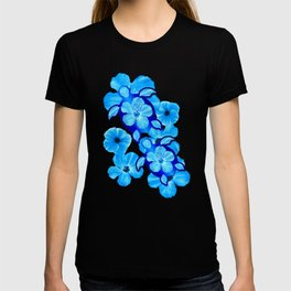 Tropical Hibiscus Flowers And Honu Turtles T-shirt