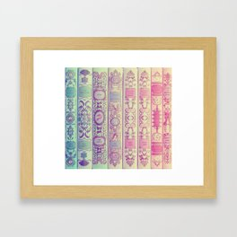 Pattern Books Framed Art Print