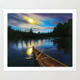 Midgard By Boat Art Print