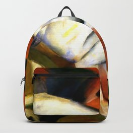 "Franz Marc ""Three animals (dog, fox and cat)"" Backpack"
