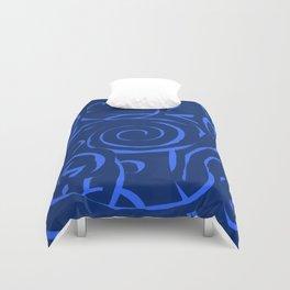 Blue holes Duvet Cover
