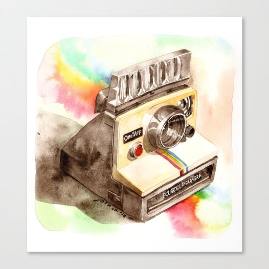Vintage gadget series: Polaroid SX-70 OneStep camera Canvas Print