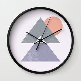 Mountain Peaks Sunset Wall Clock