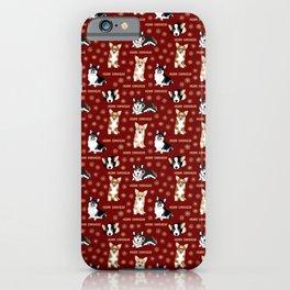 Merry Corgmess- Little Corgi Dogs Celebrate Christmas iPhone Case