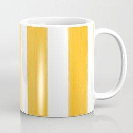 Sunny Yellow Paint Stripes Coffee Mug
